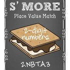 Smore Place Value Number Match--2 digit numbers