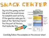 Snack Box Literacy Center