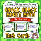 Snack Shack Math Task Cards: UK VERSION