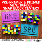 Snap Cube Center - Pre-Primer & Primer List Bundle {Simply
