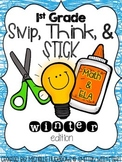 Snip, Think, and Stick Winter Printables {First Grade}
