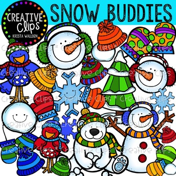 Snow Buddies {Creative Clips Digital Clipart}
