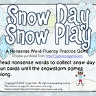 Snow Day Snow Play Nonsense Word Fluency Practice Game