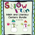 Snow Fun Math & Literacy Centers  Bundle
