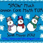 """Snow"" Much Common Core Math Fun!"