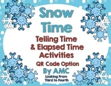Snow Time - Telling Time to the Nearest 5 Minutes and Elap