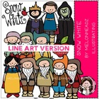 Snow White LINE ART bundle by melonheadz