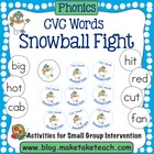Snowball Fight- CVC Words