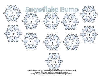 Snowflake Addition Bump Games (set of 4)