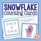 Snowflake Counting Cards for Preschool and Early Childhood