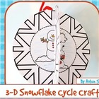 Snowflake Craft: {3-D Frozen Snow Water Cycle Craftivity}