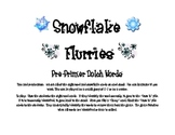 Snowflake Flurries Preprimer Dolch Words Game