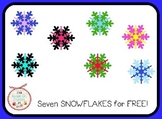 Snowflakes Clip Art {7 images} FREE!