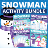 Snowman Activities Bundle:  Activities for Preschool and E