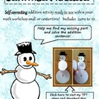 Snowman Addition: Winter Themed Math Center