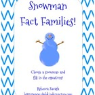 Snowman Fact Families Freebie!