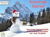 Snowman Games:  Math and Literacy Activities (Print and Yo