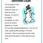 Snowman Glyph-Fun Winter Activity