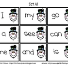 Snowman Love Sight Words (A1-A5)