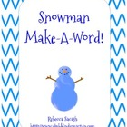 Snowman Make-A-Word Freebie