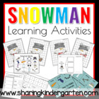 Snowman Math and Literacy