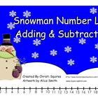 Snowman Number Line Adding & Subtracting