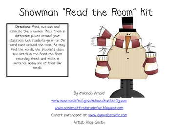 Snowman Read the Room Kit