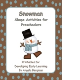 Snowman Shape Activities for Preschoolers