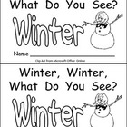 Snowman, Snowman- Winter Kindergarten Emergent Reader book