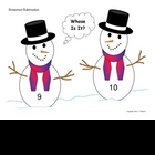 Snowman Subtraction - Whose Is It? Math facts with Winter theme
