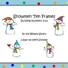 Snowman Ten Frames Working with Numbers 0-10