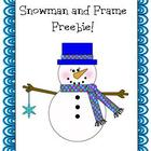 Snowman and Frame Freebie ~Commercial Use OK~