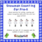 Snowmen Counting for Pre-K