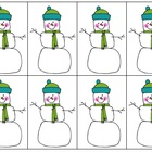 Snowmen Pocket Chart Math - HUGE set