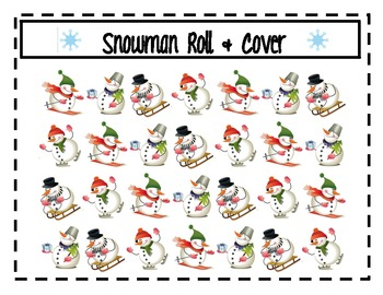 Snowmen Roll and Cover Game