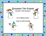 Snowmen Ten Frames Working with Teen Numbers