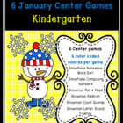 Snowmen and Snowflakes Common Core Centers January Bundle