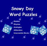 Snowy Days Word Puzzles for the Smartboard