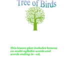 Soar to Success Tree of Birds Suffix -ed and multisyllable words