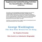 Soc. St. - Guided Reading for George Washington novel