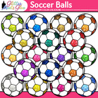 Soccer Balls Dipped in Glitter Clipart - Celebrate School