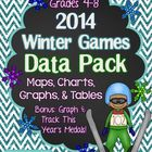 Winter Games DATA Pack: Maps, Tables, Charts, & Graphs Grades 4-8