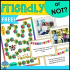 Social Language- Friendly or Not? Game Cards- Free Printable