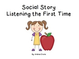 "Social Story ""Listening the first time"""