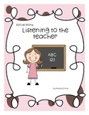 "Social Story ""Listening to the Teacher in class"""