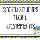 "Social Studies  ""I Can"" Statements (Bright Dots)"