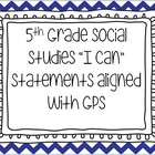 "Social Studies I Can Statements ""EDITABLE"""