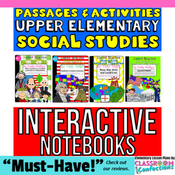 TOP SELLER!! Social Studies Interactive Notebook BUNDLE for UPPER ELEMENTARY