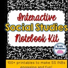 Interactive Social Studies Notebook Kit --  60+ Printables