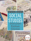Social Studies Interactive Notebook Templates and Activities